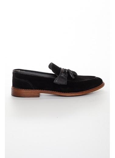 Dilimler Ayakkabı Dilimler Ayakkabı Iç Ve Dış Hakiki Deri Kaydırmaz Termo Taban Püsküllü Erkek Günlük Ayakkabı Siyah